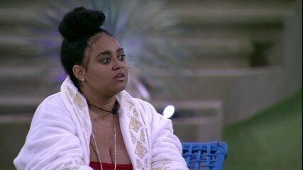 Rízia revela para Rodrigo que doeu demais eliminar Carolina da Prova do Líder