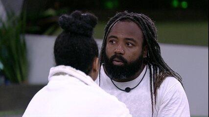 Rízia explica eliminação de Rodrigo na Prova do Líder: 'Não foi por maldade'