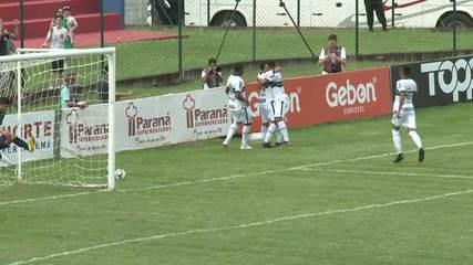 Veja os gols de Cianorte 0x4 Coritiba, pela primeira rodada do segundo turno do Paranaense