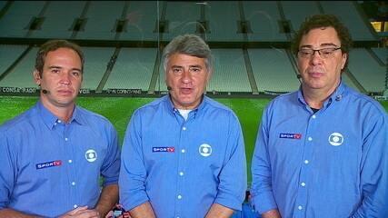 Caio Ribeiro, Cléber Machado e Casagrande analisam desempenhos de Corinthians e Santos no clássico