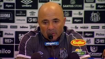 Entrevista do técnico do Santos, Jorge Sampaoli, após o jogo contra o Corinthians