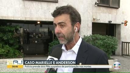Marcelo Freixo comenta prisão de suspeitos de matar Marielle Franco