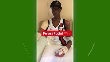Jhonata Ventura posta vídeo no hospital e diz estar se recuperando muito bem