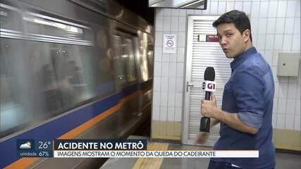 Imagens do Metrô mostram o cadeirante antes do acidente