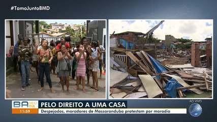 Moradores despejados de Massaranduba fazem nova manifestação em frente à Conder