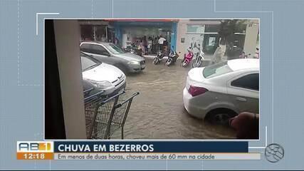 Fortes chuvas são registradas em Bezerros