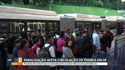 Motoristas e cobradores protestam contra Reforma da Previdência em SP