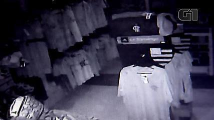Imagens mostram ladrões saqueando loja oficial do Flamengo