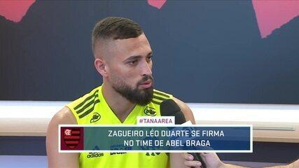 Léo Duarte se firma no time do Flamengo e fala sobre o momento no time