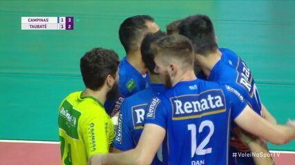 Melhores momentos: Campinas 3 x 1 Taubaté pela Superliga de vôlei masculino