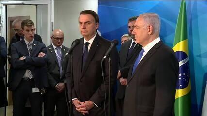 Bolsonaro se reúne com premiê israelense em Jerusalém