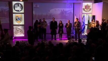 Bolsonaro homenageia militares israelenses que participaram de resgate em Brumadinho
