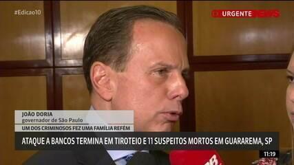 Doria diz que policiais que agiram em Guararema estão de parabéns