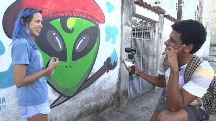 O 'Vumbora' desbrava o bairro de Brotas com a grafiteira Tiana Lago