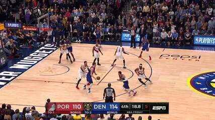 Melhores momentos: Denver Nuggets 119 x 110 Portland Trail Blazzers pela NBA