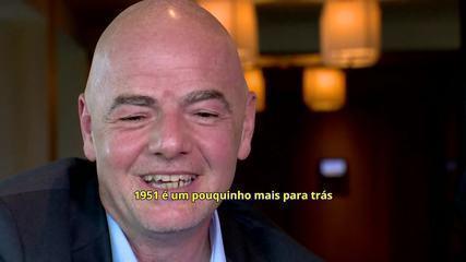 """Gianni Infantino fala sobre o tema """"Mundial do Palmeiras"""": """"Vamos ver que solução teremos"""""""