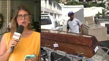 Taxista morto em temporal é enterrado no Rio