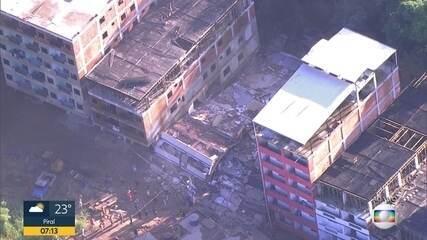 Dois prédios desabam na Muzema, zona oeste do Rio