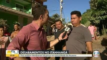 'Foi um estrondo', diz morador sobre desabamento de prédios na Muzema, no Rio