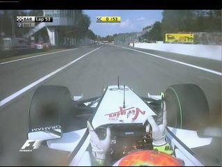 Rubens Barrichello vence o GP da Itália de 2009: a última execução do Tema da Vitória