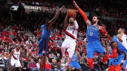 Melhores momentos: Oklahoma City Thunder 94 x 114 Portland Trail Blazers, pela NBA