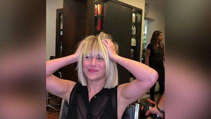 Fernanda Nobre muda de visual e adota de cabelo reto
