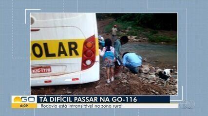 Alunos estão há mais de 30 dias sem poder ir à aula por falta de condições na GO-116