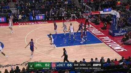 Melhores momentos de Milwaukee Bucks 119 x 103 Detroit Pistons pela NBA