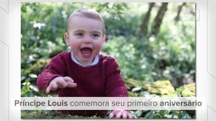 Primeiro aniversário do príncipe Louis, filho do príncipe William e Kate Middleton