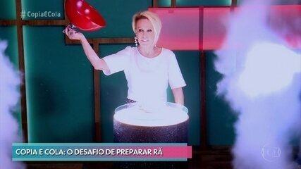 Ana Maria apresenta o prato da prova da Semifinal do 'Copia e Cola'