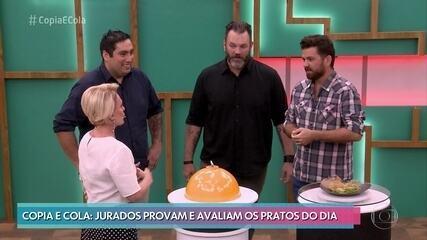 Jurados avaliam os pratos da Semifinal do 'Copia e Cola'