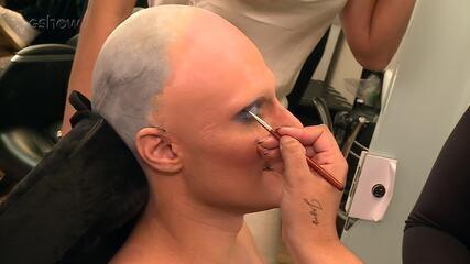 Hugo Bonemer mostra caracterização para homenagem a Britney Spears no 'Show dos Famosos'