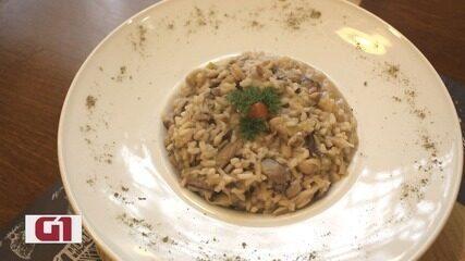 Culinária #013: Risoto vegano de cogumelos e alho poró é cremoso e saboroso