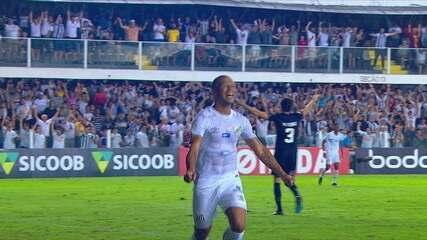 Os gols de Santos 2 x 1 Fluminense pela 2ª rodada do Brasileirão 2019