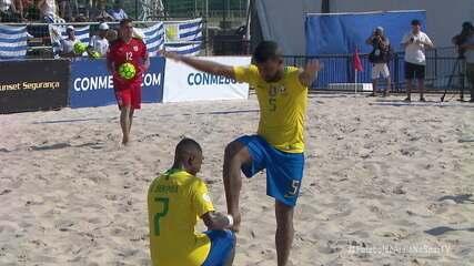 Os gols de Uruguai 1 x 10 Brasil pelas Eliminatórias da Copa do Mundo de Futebol de Areia