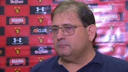 Entrevista coletiva de Guto Ferreira depois do empate do Sport com o Bragantino