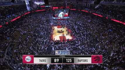Melhores momentos: Toronto Raptors 125 x 89 Philadelphia 76ers pela NBA