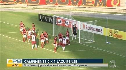 Veja como foi a derrota do Campinense para o Jacuipense