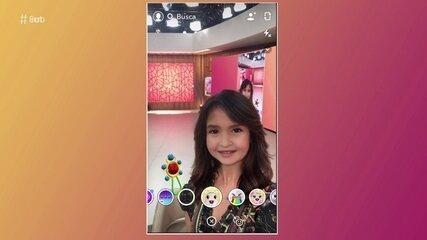 Fátima brinca com aplicativo que deixa as pessoas com cara de criança