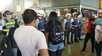 Princípio de confusão após protesto em Brasília
