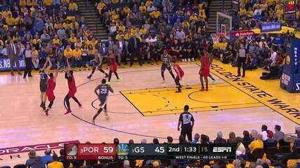 Melhores momentos: Golden State Warriors 114 x 111 Portland Trail Blazers pela NBA