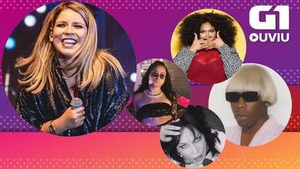 Marília Mendonça, Tyler the Creator, Maluma, MC Loma no trap e Halsey no rock estão no G1