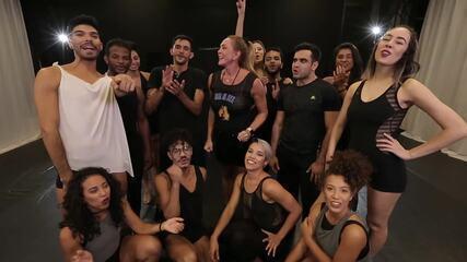 Hortência participa do quadro 'Dança de Grupo no Faustão'