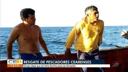 Pescadores que ficaram à deriva dizem que só comeram farinha