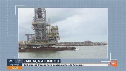 Marinha confirma que módulos da Petrobras naufragaram em São Francisco do Sul