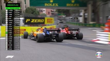 Leclerc tentou outra ultrapassagem mas se deu mal