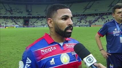 Romarinho fala sobre gol no fim que deu empate para o Fortaleza diante do Vasco