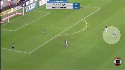 Veja nova imagem do momento em que árbitro teria autorizado reinicio da partida entre Botafogo e Palmeiras