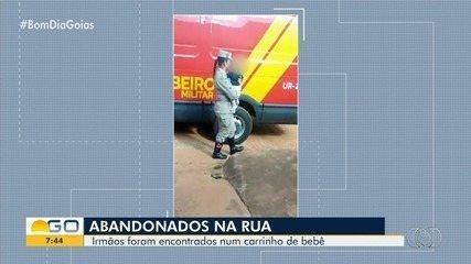 Bebês são encontrados dentro de carrinho na porta de casa, em Aparecida de Goiânia