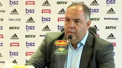 Marcos Braz fala sobre negociações no Flamengo e procura por novo técnico